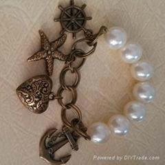 BR-130303 New Fashion Jewelry Costume Heart Artificial Bracelet