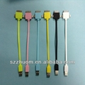 2013 Colorful 3 in 1 USB cable for iPhone ZM-IP5C12A 2