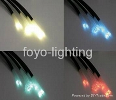 End light fiber optic with black PVC jacket