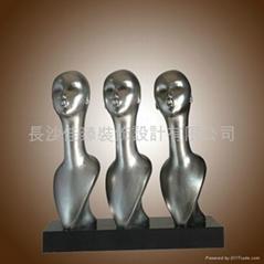 简约现代抽象雕塑