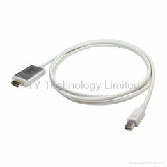 2013 MINI Displayport male TO HDMI male Converter White colour Video Cable 1.8m