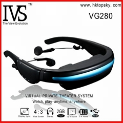 52inch virtual screen video eyewear goggles, 4G memory