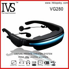 52inch virtual screen video eyewear goggles, 4G memory
