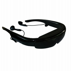 98inch 3d head mounted video goggles 3d format is side by side 8G memory