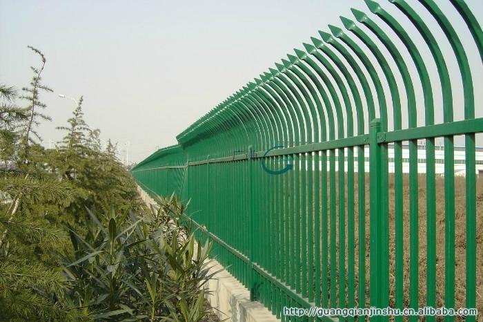 集寧呼市D型防爬靜電噴塗小區組裝柵欄 2