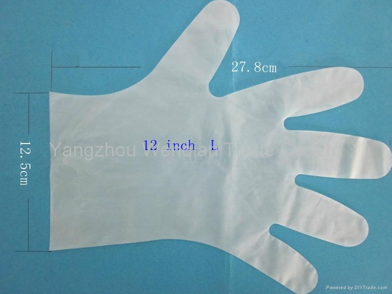 LDPE medical disposable plastic gloves 1