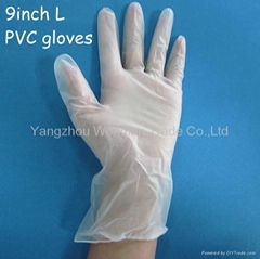 Medical EXAMINATION disposable PVC gloves from Yangzhou