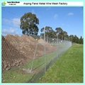 Chain wire fencing with barbed wire