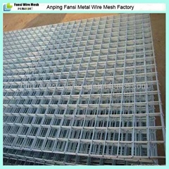 Welded wire mesh panel for construction