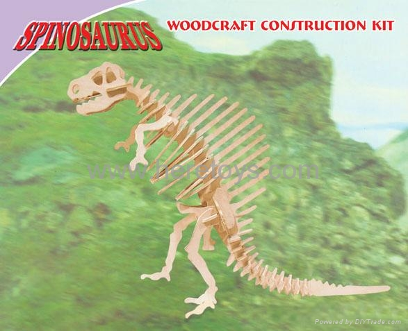 3D puzzle wooden papercard toys educational toys dinosaur submarine swan 1