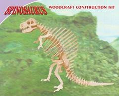 3D puzzle wooden papercard toys educational toys dinosaur submarine swan