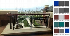 Galvanized steel balcony fence with Laminated glass(BSY)