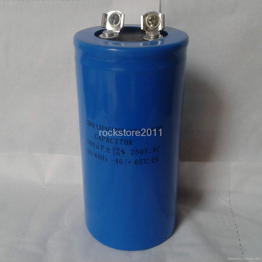 non polarized capacitor CD60 500 micro farad or 500mf 250VAC