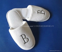 无纺布拖鞋白色