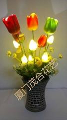 LED PU盆栽花