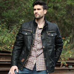 Hot selling men's leather jacket