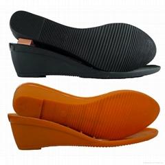 tpu女式休闲鞋坡跟鞋底女鞋鞋底