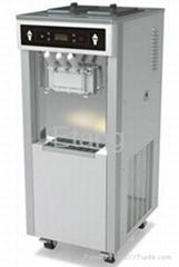 3 Phase Soft Serve Frozen Yogurt Maker / Ice Cream Machine For Buffet Restaurant