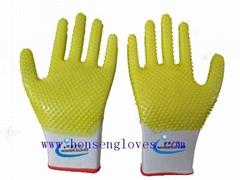 dots cotton gloves