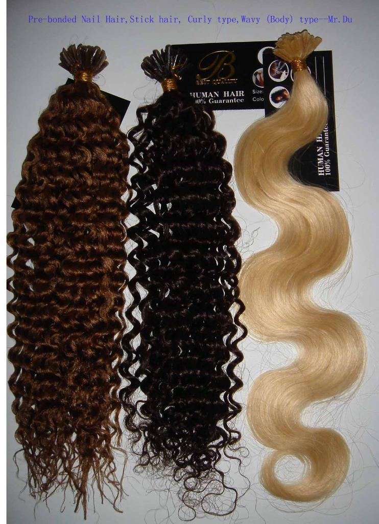 Pre Bonded Hair Extensions Curly 117