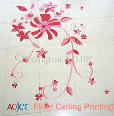 CMYKW art ceiling uv flatbed printing machine