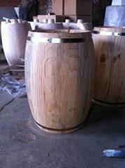 装饰木桶花盆