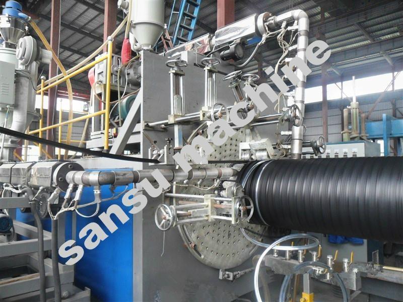 双平壁钢塑复合缠绕排水管设备 1