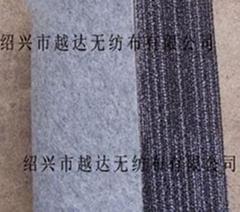(滴塑點塑地毯基布)針刺棉針刺無紡布毛氈供應