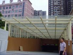 车库入口钢结构雨棚