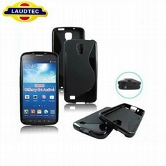 New Arrival S line TPU Gel Case Cover for Samsung Galaxy S4 Active i9295,laudtec