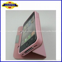 high quality hot salling cheap case for iPhone 4 Leather Flip Bag ,for ip4