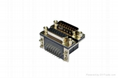 Dual port 15p female to male connector