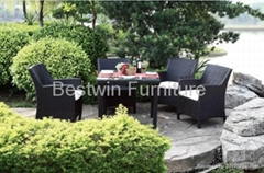 Rattan Chair & Table Set BW-1038C& BW-7038DT
