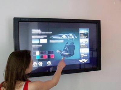 三星液晶屏65寸壁挂廣告機 3