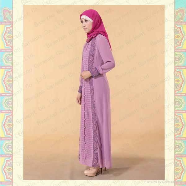 MF18708 new design cotton embroidery baju kurung muslim wear