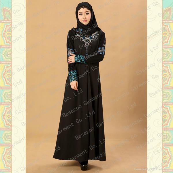 Mf19483 New Design Beading Dubai Muslim Abaya Basezoo China Manufacturer Ethnic Folk