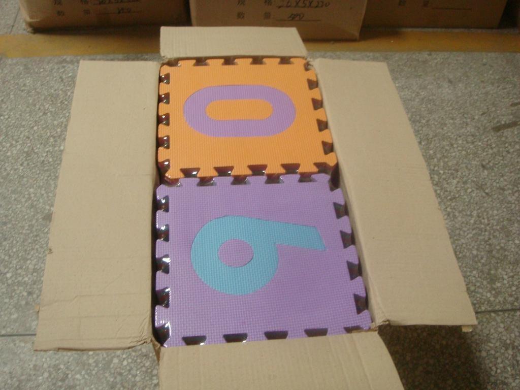 数字拼图地垫_橡塑胶防滑地垫_EVA泡沫儿童数字安全地垫 2