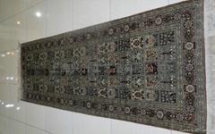 花園式設計走廊式手工真絲地毯