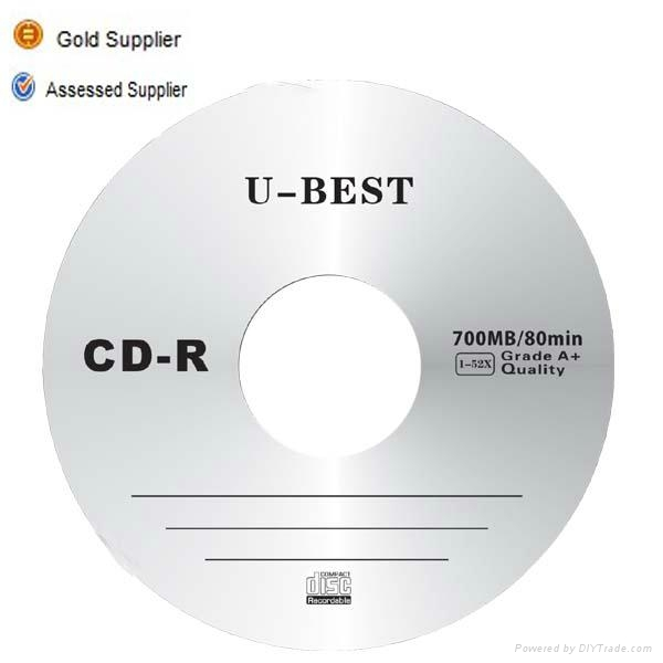 Gold supplier of blank CD-R grade A 1