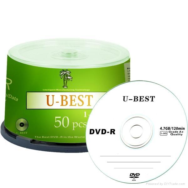 blank DVD-R 4.7GB 120MIN 1-16X single layer 1