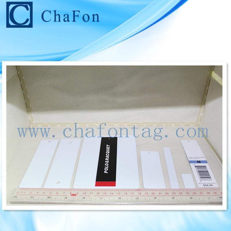 UHF RFID PET/PVC apparel hang tag with hole 2