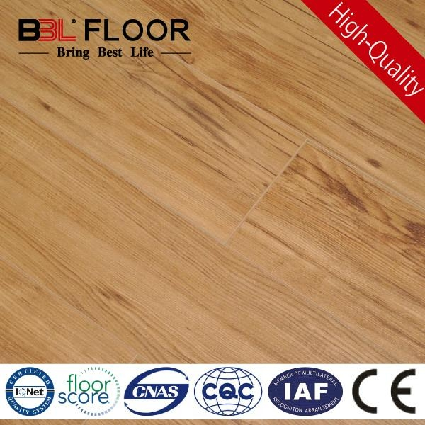12mm AC3  Small embossed surface brown color hardwood floor 130-9 1