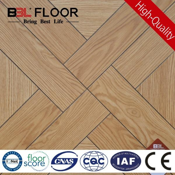 15mm thickness AC3 Small Embossed cheap parquet flooring 1017 Series 1