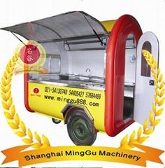 Mobile Food Cart With Big Wheel