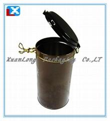 Round Metal Coffee Box