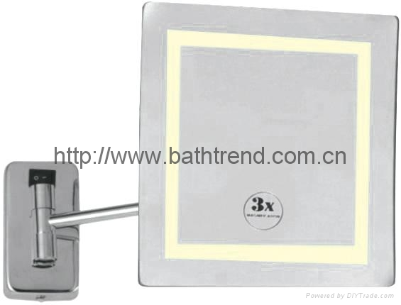 Bathroom Mirrors Extendable Magnifying bathroom mirror magnifying mirrors led cosmetic extendable mounted