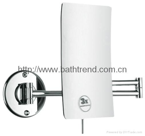 Bathroom Mirror Magnifying bathroom mirror magnifying mirrors led cosmetic extendable mounted