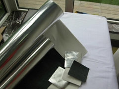 Aramid and it's blended fabric with aluminum film
