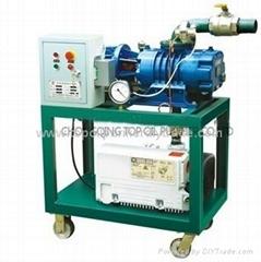 Transformer evacuation vacuum pumping system