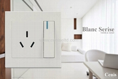 Good Quality Wall Switches Socket Blanc Series
